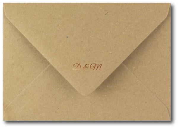 Monogram Envelope with Copper Foil