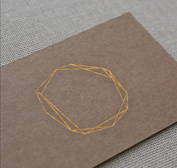 Business Card with Copper Foil