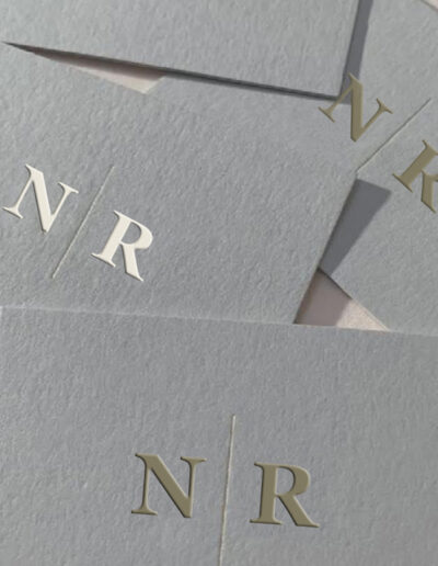 Business Card Gold Foil with Company Initials