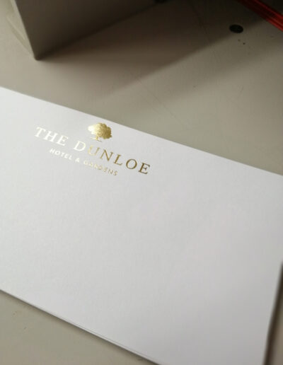 Company Compliment Slips with Gold Foil
